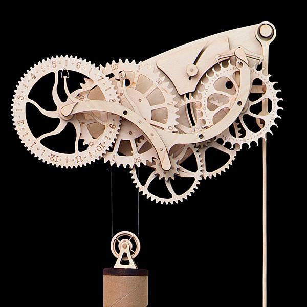 clock mechanical wooden kit clocks pendulum diy steampunk gear wall kits wood building own build gears simple enthusiast inspired weight