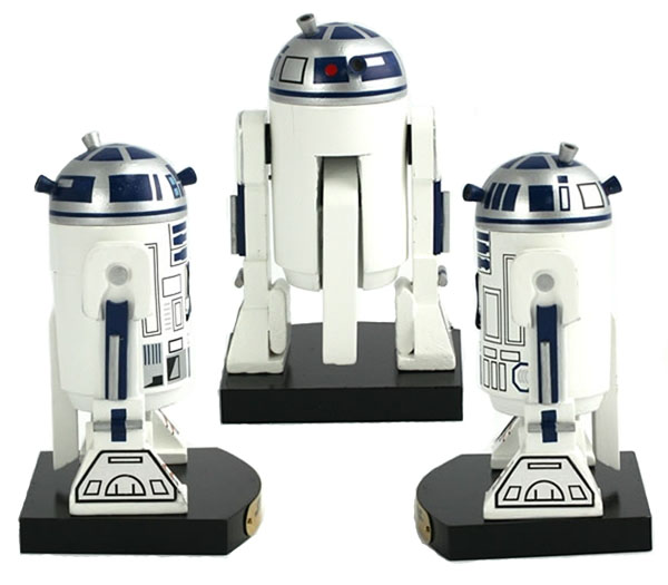 Wooden R2-D2 Nutcracker