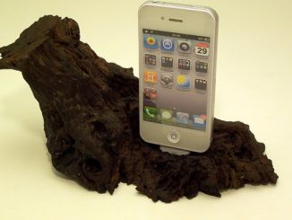 Wooden iPhone Dock and Charging Station