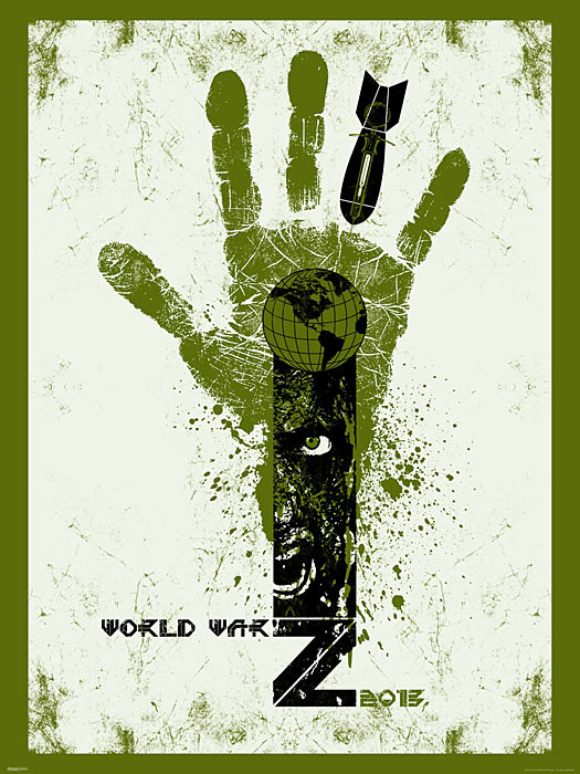 World War Z Movie Limited Edition Prints