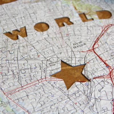 World's Greatest Dad Map Jigsaw Puzzle