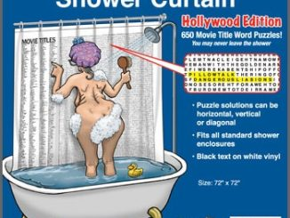 World's Largest Word Search Puzzle Shower Curtain