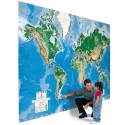 World's Largest Write On Map Mural