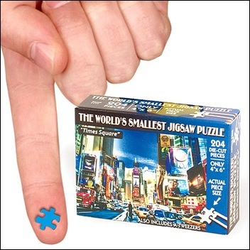 World's Smallest Jigsaw Puzzle