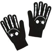 Woven Jack Skellington Gloves