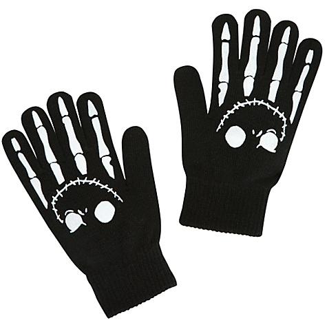 Woven Jack Skellington Gloves