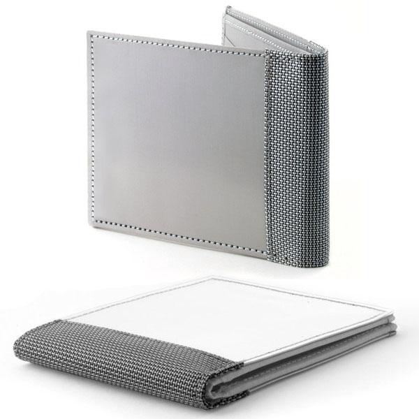 Woven Stainless Steel Bi-Fold Wallet