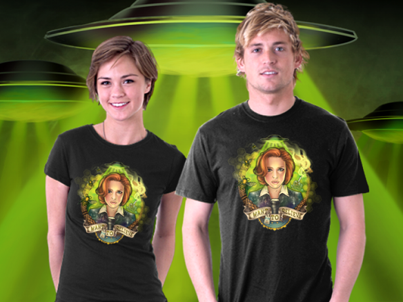 X-Files Portrait of a Skeptic T-Shirt