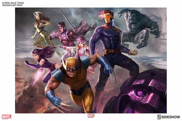 X-Men Blue Team Premium Art Print