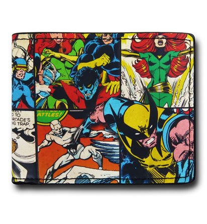 X-Men Comic Collage Bi-Fold Wallet