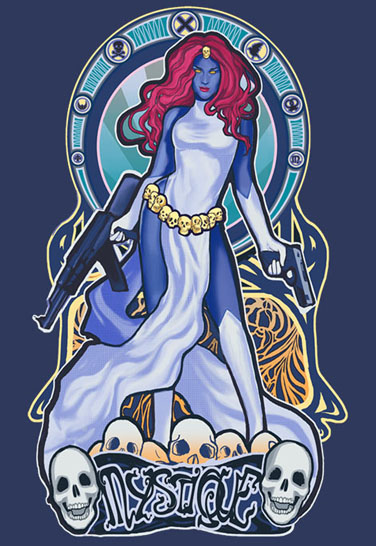 X-Men Raven Darkholme Mystique Babydoll T-Shirt