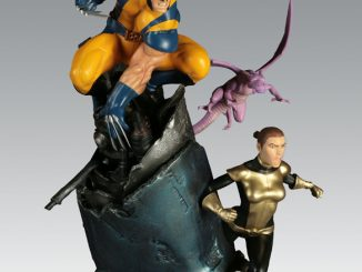 X-Men VS Sentinel - Wolverine and Shadowcat Polystone Diorama