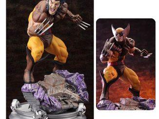 X-Men Wolverine Brown Costume Danger Room Sessions Fine Art Statue