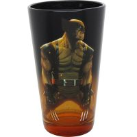 X Men Wolverine Orange-Black Gradient Pint Glass