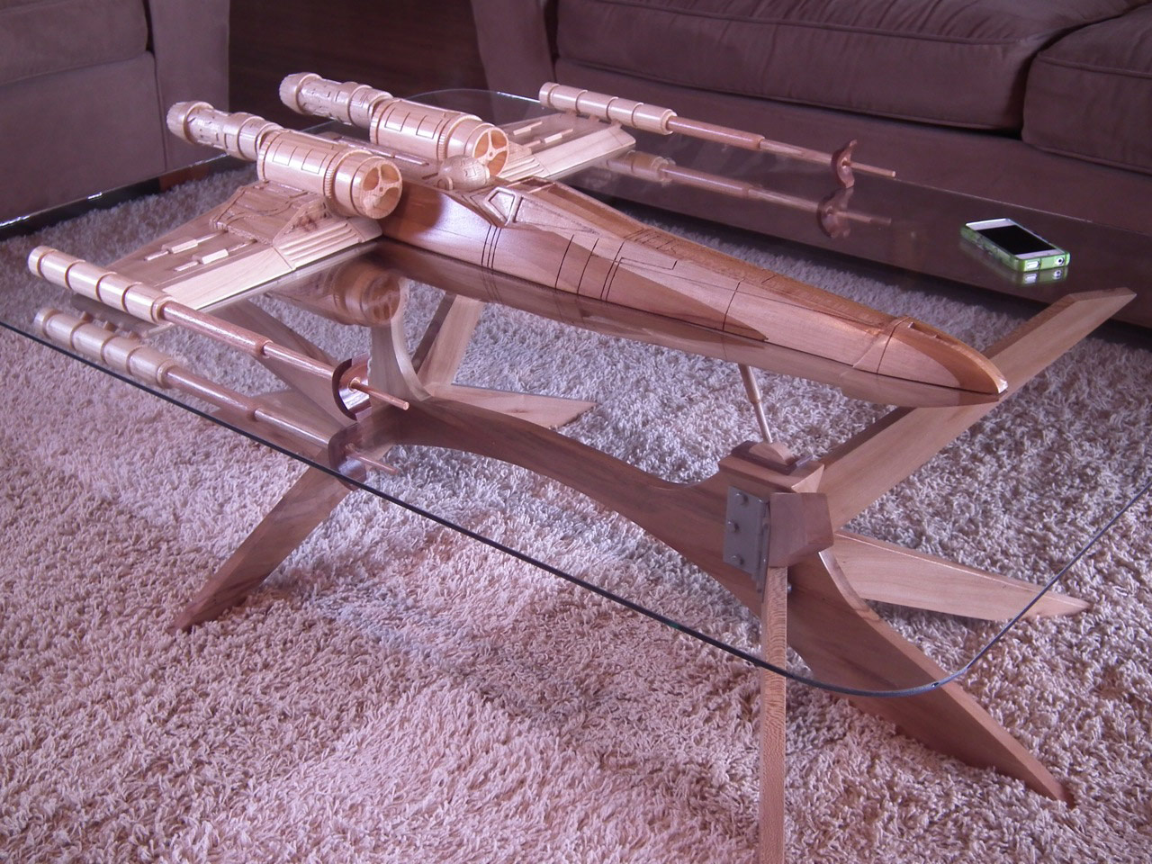 Airplane Wing Coffee Table Star Wars X Wing Coffee Table