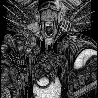 Xenomorph Family Portrait Tribute Print