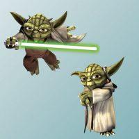 Yoda Fathead Clone Wars