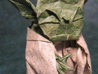 Yoda Star Wars origami
