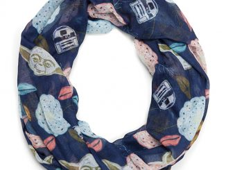Yoda and Friends Floral Lightweight Infinity Scarf