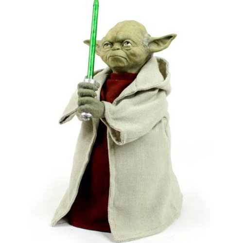 Yoda with LED Light Saber Tree Topper