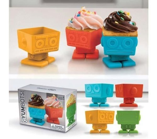 Yumbots Robot Cupcake Molds