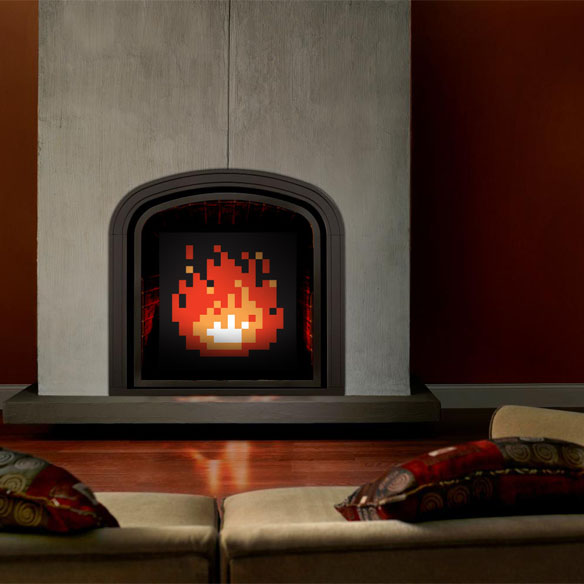 Zelda Flame Fireplace Art