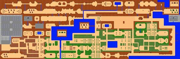 Zelda-Inspired Vinyl Poster Map