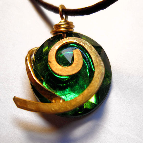 Zelda Kokiri's Forest Emerald Necklace