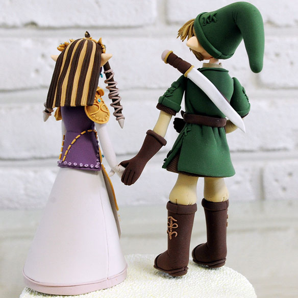 Zelda & Link Character cake toppers