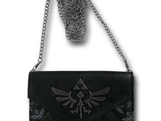 Zelda Quilted Envelope Wallet w Chain
