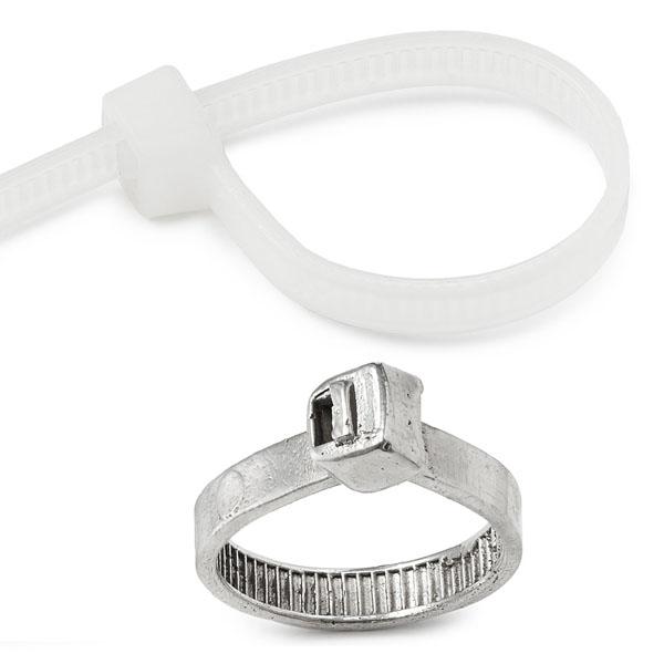 Zip Tie Silver Ring