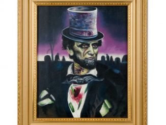 Zombie Abraham Lincoln Oil Painting