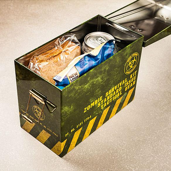 Zombie Ammo Tin Lunch Box