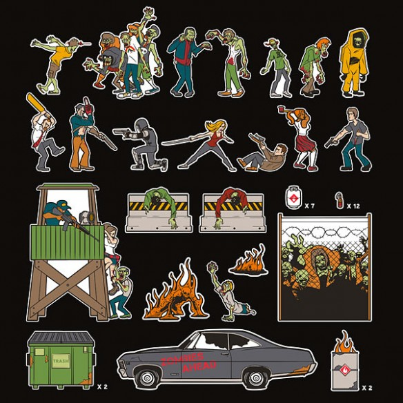 Zombie Apocalypse Magnet Set