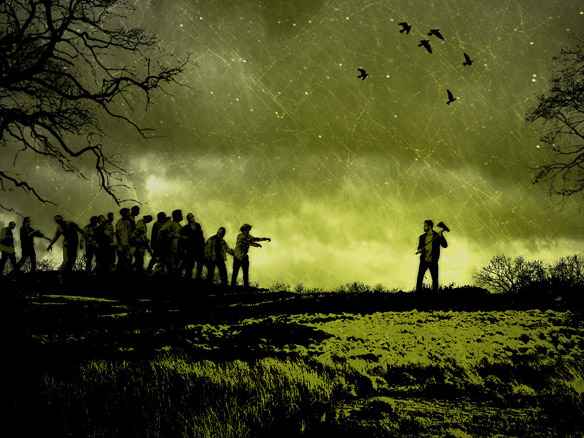 Zombie Art Print Green