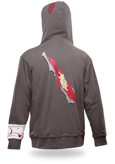 Zombie Attack Hoodie Rear View