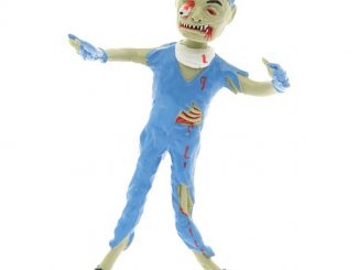 Zombie Brain Surgeon Bendable Figure