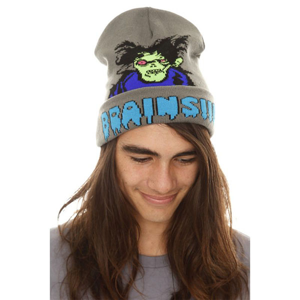 Zombie Brains Knit Winter Hat