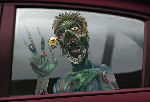 Zombie Car Window Stickers