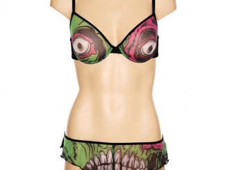 Zombie Chomper Bra And Hot Pants Set