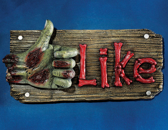 Zombie FleshBook LIKE Wall Sculpture