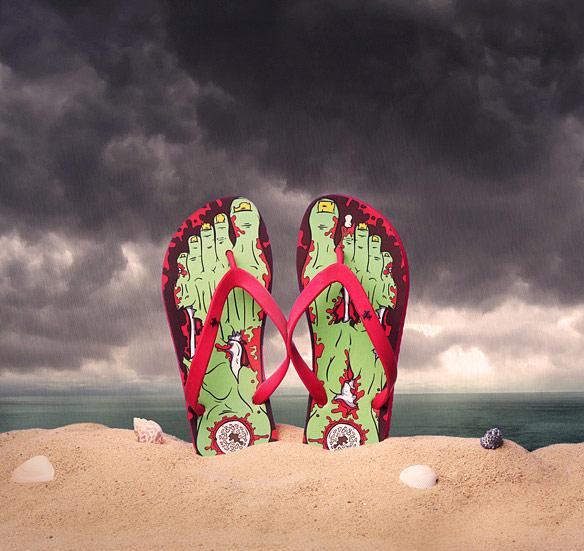 Zombie Flip Flop Sandals