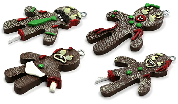 Gingerbread Zombie Christmas Ornaments