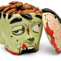 Zombie Head Ceramic Cookie Jar
