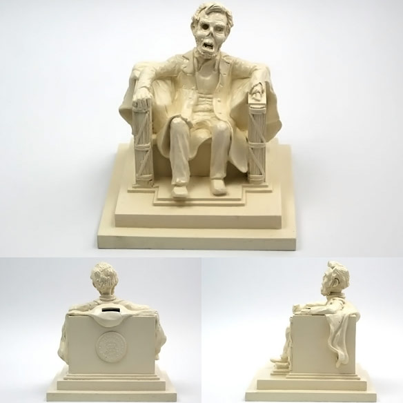 Zombie Lincoln Memorial Coin Bank