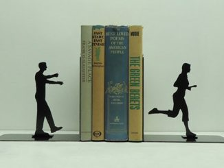 Zombie Metal Art Bookends