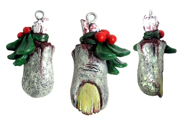 Zombie Mistletoe - Christmas Ornament