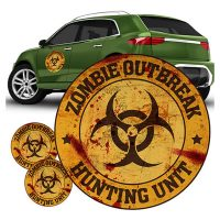 Zombie Outbreak Hunting Unit Orange FanWraps Car Decal