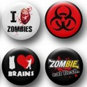 Funny Zombie Pins / Buttons