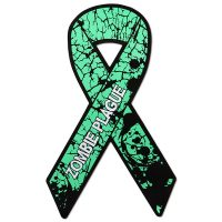Zombie Plague Ribbon Magnet